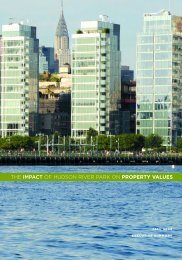 THE IMPACT OF HUDSON RIVER PARK ON PROPERTY VALUES