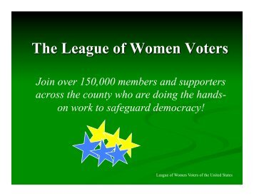 LWVUS - League of Women Voters of San Diego