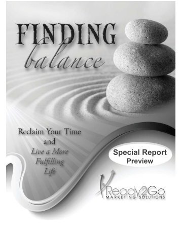 Special Report Special Report - Ready2Go Marketing Solutions, Inc.