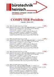 COMPUTER Preisliste - Bürotechnik Heinisch