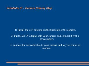 Install the wifi antenna on the backside of the camera.