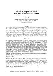 Analyse en composantes locales et graphes de ... - Lexicometrica