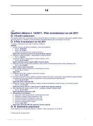 Opatření děkana č. 14/2011 - Plán inventarizací na rok 2011