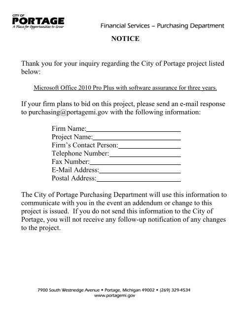 Microsoft Office 2010 Pro Plus Licenses With City Of Portage