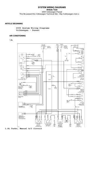system wiring diagrams volvo v air technosolution volkswagen passat 2000 system wiring diagrams vems hu