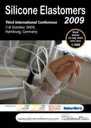 Third International Conference 7-8 October 2009 ... - Smithers Rapra