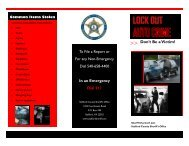 Lock Your Car brochure - Stafford County Sheriff's Office