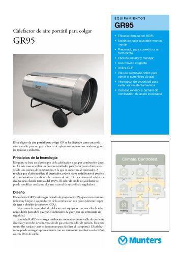 Calefactor de aire portátil para colgar - Munters
