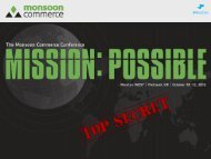 Reporting & Dashboards - Monsoon Commerce