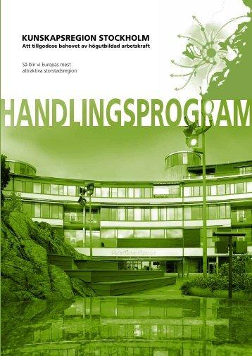 Kunskapsregion Stockholm - SLL Tillväxt, miljö och regionplanering ...