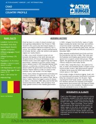COUNTRY PROFILE CHAD - Action Against Hunger