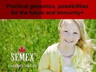 Practical genomics, possibilities for the future and Immunity+
