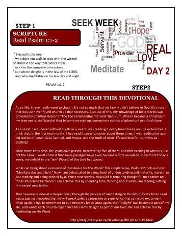 YMC Seek Week Day 2- Meditate.pdf - Shadow Mountain ...