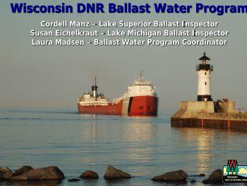 Wisconsin Department of Natural Resources Ballast Water Program