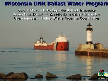 Wisconsin Department of Natural Resources Ballast Water Program