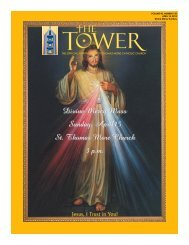 Divine Mercy Mass Sunday, April15 St. Thomas More Church 3 p.m.