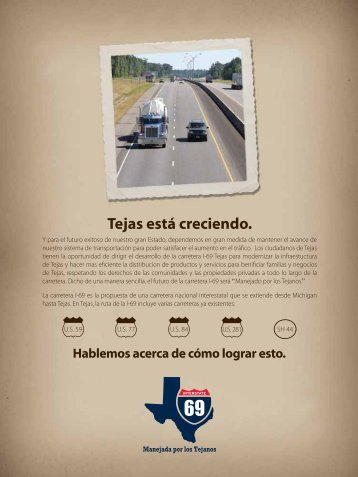 Tejas está creciendo. - Welcome to the Texas Department of ...