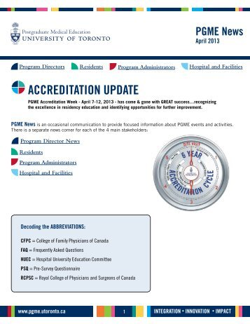 accreditation update - Post Graduate Medical Education University ...