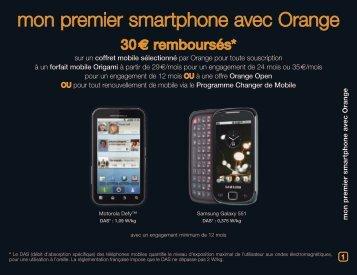 mon premier smartphone avec Orange - Orange mobile