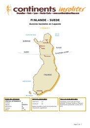 FINLANDE - SUEDE - Continents Insolites