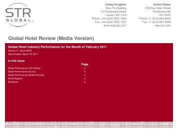 View Global hotel review for February. - Hotel News Now