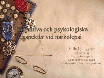 Kognitiva och psykologiska aspekter vid narkolepsi (pdf-dok, 504 Kb ...