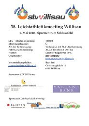 38. Leichtathletikmeeting Willisau - LAR Tägerwilen