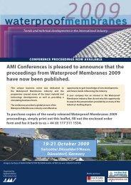 Waterproof Membranes Proceedings Document - Amiplastics-na.com