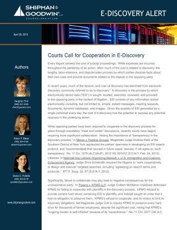 E-DISCOVERY ALERT - Shipman & Goodwin LLP