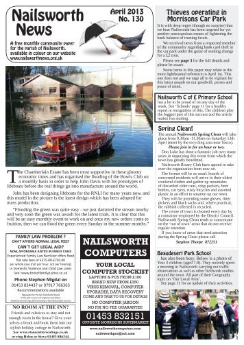 Issue 130 Apr 2013 - Nailsworth News