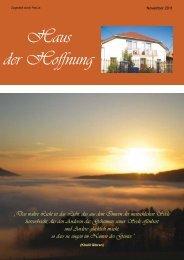 zur Zeitschrift Ausgabe (November 2011) - Haus der Hoffnung