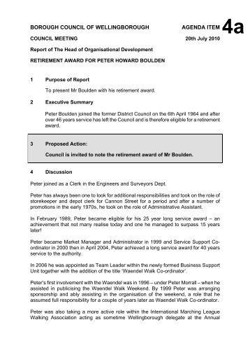 Committee Report Template - November 09 - Wellingborough ...