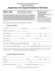 Application for Superintendent of Schools - Perry County School ...