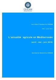 L'actualité agricole en Méditerranée (avril - mai - juin 2010