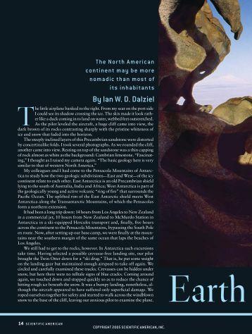 By Ian W. D. Dalziel - Scientific American Digital