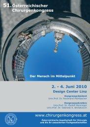 Österreichischer Chirurgenkongress 2. - 4. Juni 2010 www ...