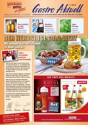 5 free Magazines from GETRAENKE.GEINS.DE