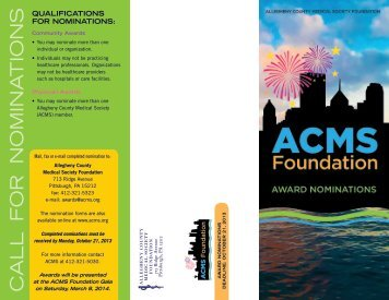 Downloadable Nomination Form - Allegheny County Medical Society