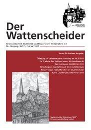 1 / 2011 - Heimat- und  Bürgerverein Wattenscheid