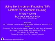 Building Affordable Housing with TIFs, Quick