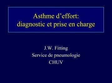 Asthme d'effort: diagnostic et prise en charge - CHUV