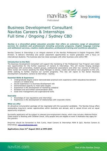 Business Development Consultant
