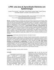e-PID: uma área de Aprendizado Eletrônico em Epidemiologia - SBIS
