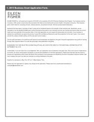 1. 2013 Business Grant Application Form. - Eileen Fisher