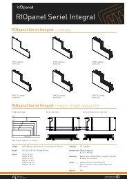 Radiator datasheet - RIOpanel