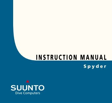 Spyder Manual - Suunto