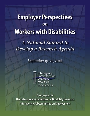 Employer Perspectives Workers with Disabilities - Burton Blatt ...