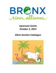 Upstream Soirée October 2, 2012 Silent Auction Catalogue