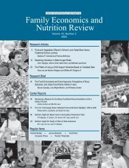 Family Economics and Nutrition Review - Center for Nutrition Policy ...