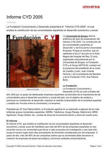 Informe CYD 2005 - Noticias Universia